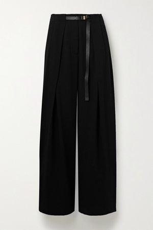 Black Brona belted wool wide-leg pants | The Row | NET-A-PORTER