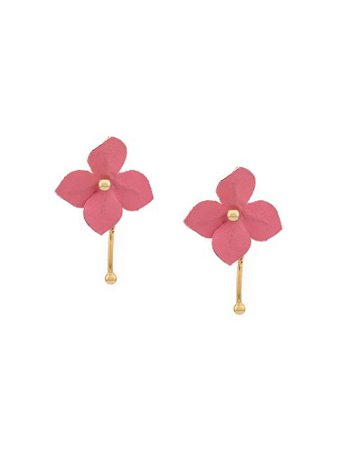 Marni floral stud earrings gold & pink ORMV0149A0T2000 - Farfetch