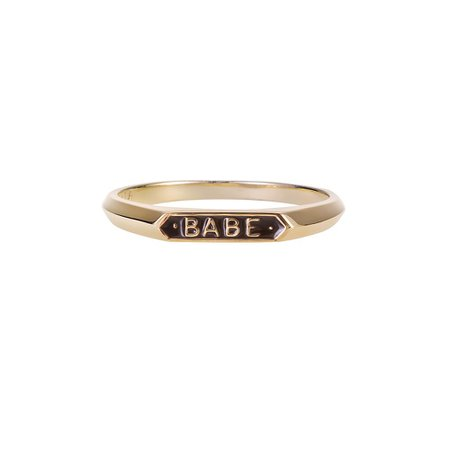 Babe Signet Ring Gold - Nora Kogan
