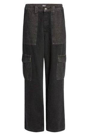 Patchwork High Waist Straight Leg Jeans | Nordstrom