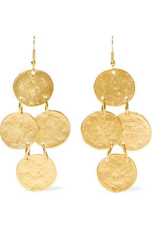 Kenneth Jay Lane   Gold-plated earrings   NET-A-PORTER.COM