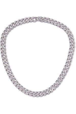 Kenneth Jay Lane | Silver-tone crystal necklace | NET-A-PORTER.COM