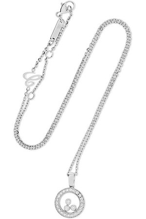 Chopard | Happy Diamonds 18-karat white gold diamond necklace | NET-A-PORTER.COM