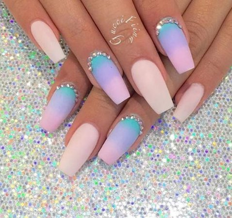 Nail Art Designs Blog | Pastel Ombre Nail Art