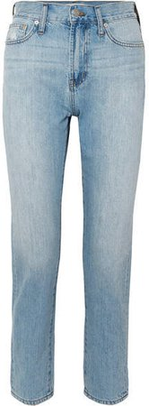 The Perfect Summer Cropped High-rise Straight-leg Jeans - Light denim