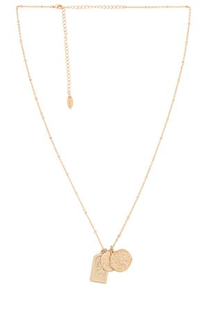 Ettika Long Coin Necklace in Gold | REVOLVE