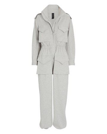 Norma Kamali Turtleneck Cargo Jumpsuit | INTERMIX®