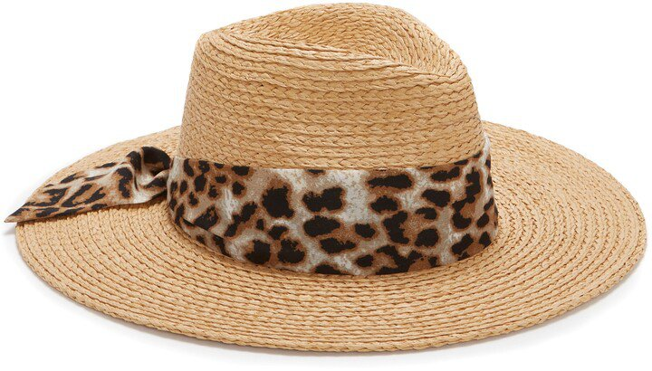 Scarf-Band Straw Hat
