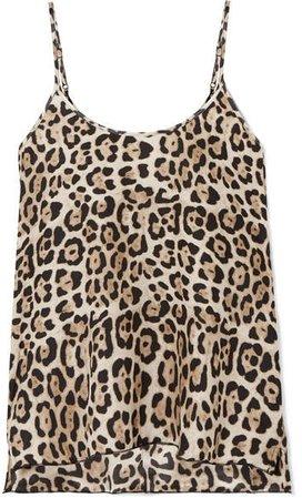 Leopard-print Silk-charmeuse Camisole - Leopard print