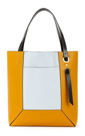 Nemo Leather Shopping Tote By Marni | Moda Operandi