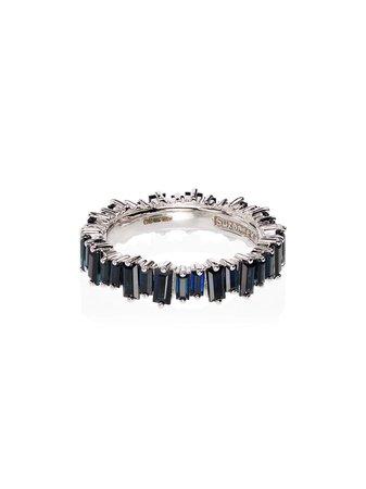 Blue Suzanne Kalan Eternity Sapphire Ring | Farfetch.com