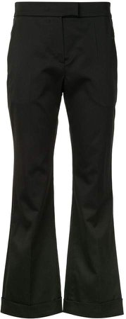Cropped Kick-Flare Trousers