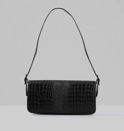 L.a. bag Embossed leather Bag - Black - Vagabond