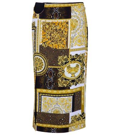 Versace, Barocco printed pencil skirt