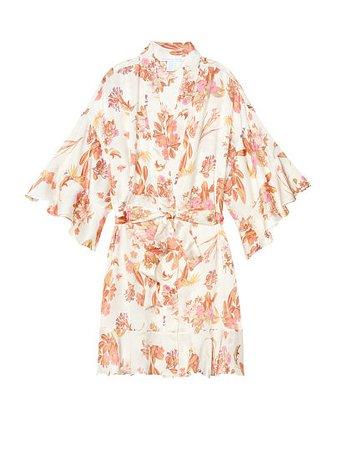 Short Satin Kimono Robe - Victoria's Secret - vs