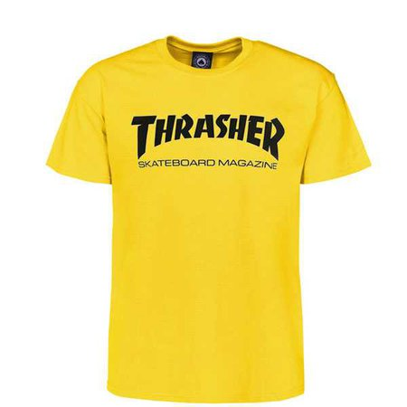 THRASHER SKATE MAG T-SHIRT (YELLOW) - Contamined Skate Shop