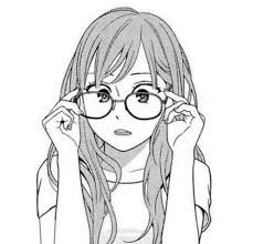 cartoon girl with glasses sketch - Google Search