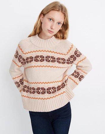 Overbrook Fair Isle Mockneck Sweater