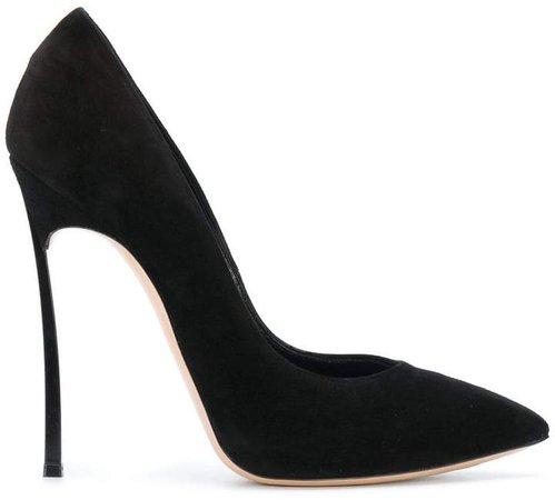 thin stiletto heeled pumps