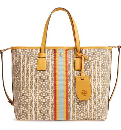 Tory Burch Small Gemini Link Coated Canvas Tote | Nordstrom
