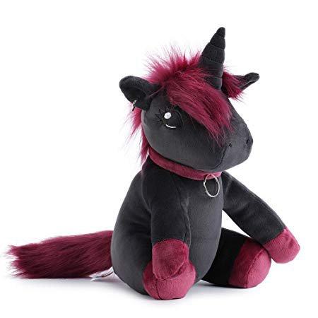 Amazon.com: corimori 1849 - Ruby The Punk Unicorn Stuffed Toy Cuddly Plush Animal for Children, Approx. 10 inches, Pink-Black: Toys & Games