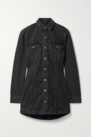 Denim Mini Dress - Black