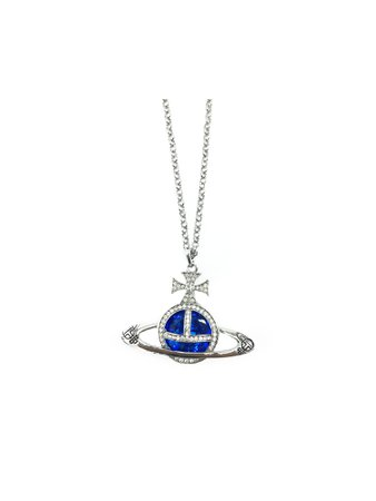 Vivienne Westwood Blue Orb Necklace — INTO ARCHIVE