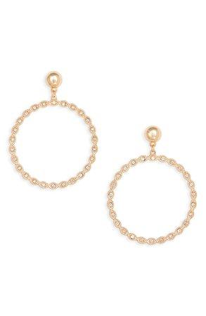 Rachel Parcell Crystal Frontal Hoop Earrings (Nordstrom Exclusive) | Nordstrom