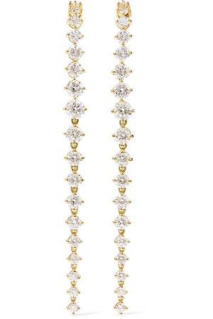 Melissa Kaye | Aria Violet 18-karat gold diamond earrings | NET-A-PORTER.COM