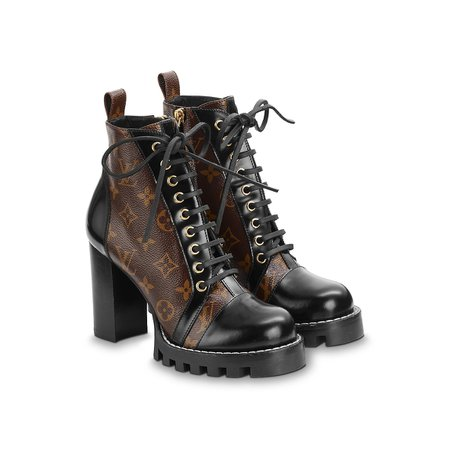 LV Leather ankle boots