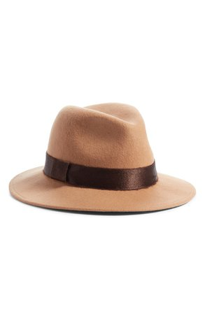 Something Navy Shine Trim Wool Fedora Hat (Nordstrom Exclusive) | Nordstrom