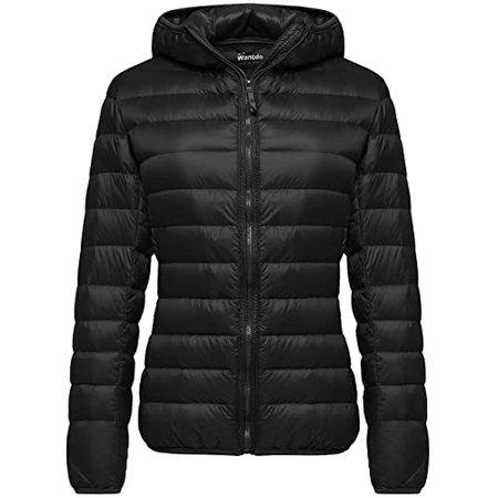 Women's Black Puffer Jacket: Amazon.com