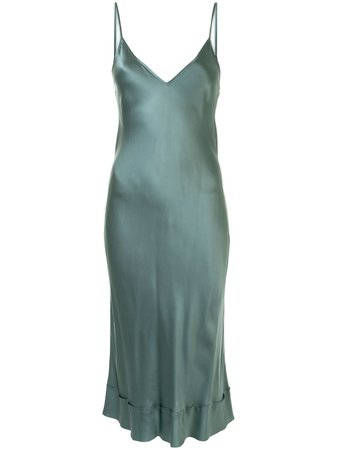 Lee Mathews Stella Satin Slip Dress