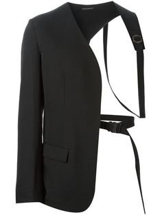 Yohji Yamamoto asymmetric harness blazer
