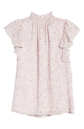 1.STATE Wildflower Bouquet Smocked Neck Blouse | Nordstrom