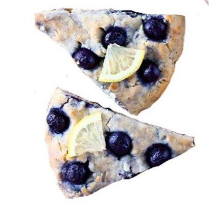blueberry lemon scones dessert png