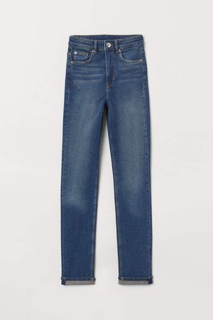 Slim High Jeans - Blue