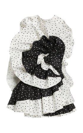 Mini Floating Dot Print Silk Taffeta Mini Dress By Carolina Herrera | Moda Operandi
