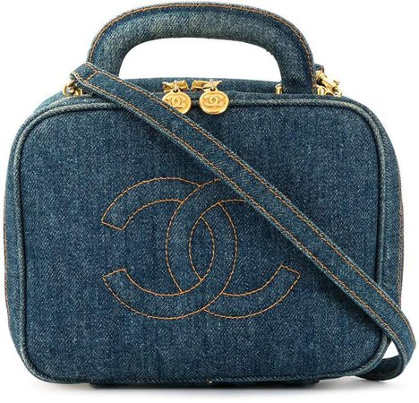 Chanel Pre Owned 1997's CC stitch vanity shoulder bag