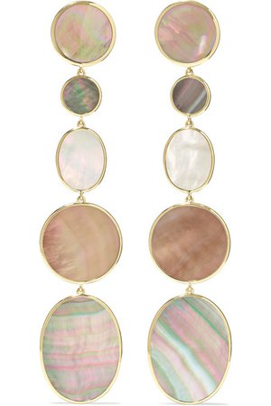 Ippolita | Polished Rock Candy 18-karat gold, shell and mother-of-pearl earrings | NET-A-PORTER.COM