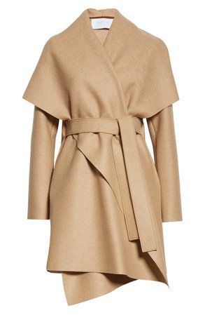 Harris Wharf London Wool Pressed Wool Blanket Coat | Nordstrom