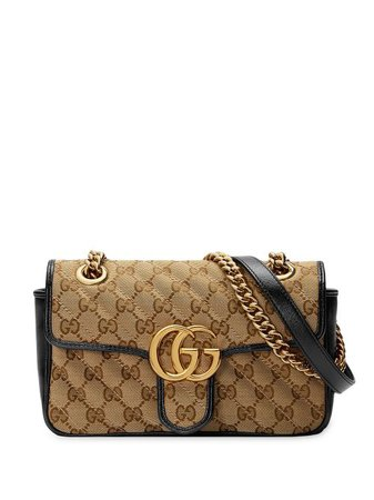 Shop black Gucci GG Marmont matelassé mini bag with Express Delivery - Farfetch