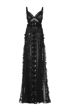 Embroidered Georgette Gown by Zuhair Murad | Moda Operandi