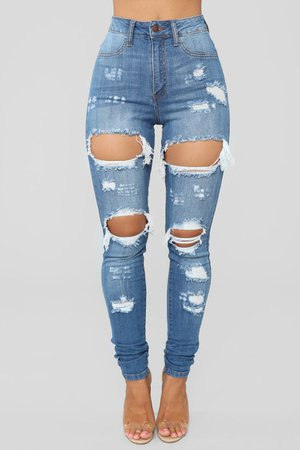 Drama Jeans - Medium Blue Wash