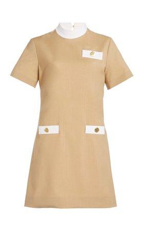 Wool Short Sleeve Mini Dress by George Keburia | Moda Operandi