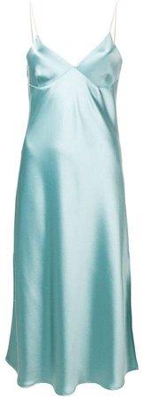 Ssheena metallic slip dress
