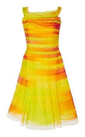 Ralph Lauren Docia Tulle Off-The-Shoulder Ombre Dress