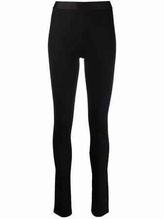 Ann Demeulemeester elasticated full-length leggings black 21011408188 - Farfetch