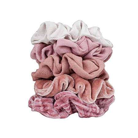 Amazon.com : Velvet Hair Scrunchies for Women- 5 pack Velvet Scrunchie for Ponytails, Braids and Buns (Matte Velvet Blush) : Beauty