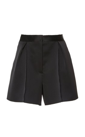 Carolina Herrera High-Waisted Satin Shorts Size: 8